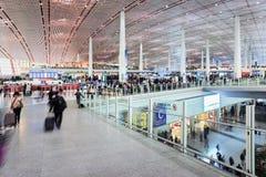 离开大厅北京首都国际机场 库存图片