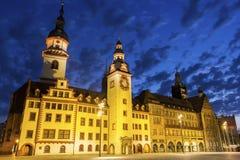 开姆尼茨城镇厅在德国 库存图片