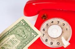开始事务打电话吸引新的custome4rs 免版税库存图片
