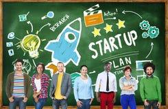 开始企业成功教育队概念 免版税库存图片