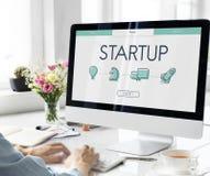 开始商业投机网页 免版税图库摄影