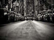 开始在瓦莱塔喜欢街道场面 免版税图库摄影