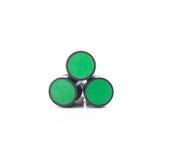 开始在被隔绝的背景的按钮绿色 库存图片