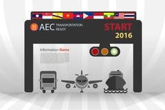 开始在2016年运输的AEC准备好 库存例证
