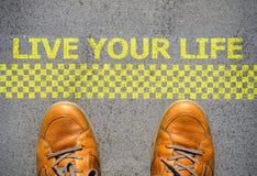 开始居住您的生活概念 免版税库存照片
