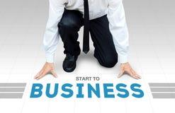 开始工作,准备好开始对活动或事务 免版税库存图片