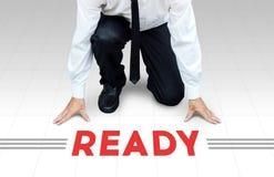 开始工作,准备好开始对活动或事务 库存图片
