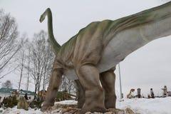 开始恐龙公园Yurkin公园 免版税库存照片