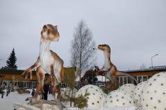 开始恐龙公园Yurkin公园 免版税图库摄影