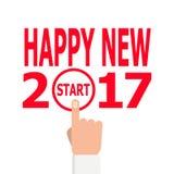 开始新年2017年想法 免版税库存图片