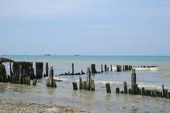 攻击开始日海滩诺曼底,法国 库存照片