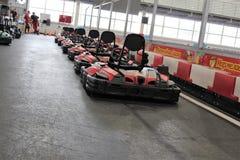 开始栅格的Karting轨道 库存图片