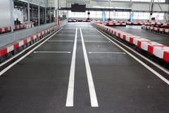 开始栅格的Karting轨道 免版税库存照片