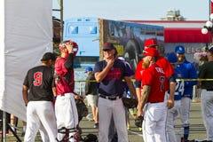 开始棒球加拿大资深Men's国民 库存图片