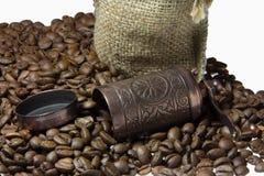开始的咖啡贪心的口味天 免版税库存照片