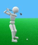 开始高尔夫球运动员 免版税库存图片