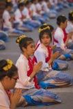 开幕式Loy Krathong和Yee彭节日在城镇Ma 免版税库存图片