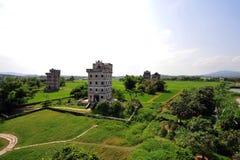 开平碉楼,中国 免版税库存照片