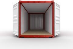 开张发运集装箱 免版税图库摄影