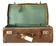 开张手提箱葡萄酒 免版税库存图片