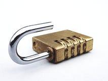 开张挂锁 库存图片