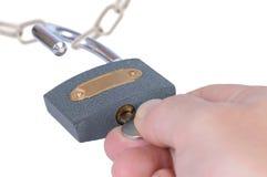 开张挂锁 免版税库存图片