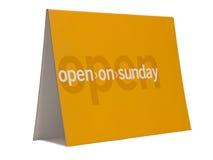 开张星期天 免版税库存图片
