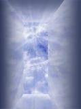 开张的反射性天空 库存例证