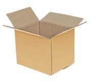 开张皱纸板配件箱 免版税库存照片