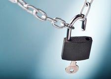 开张锁定 免版税库存图片