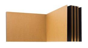开张页被回收的纸笔记本 库存图片