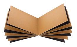 开张页被回收的纸笔记本 免版税库存图片