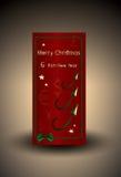 开户与金钱和金星的圣诞卡 图库摄影