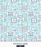 开户和财务墙纸 银行无缝的样式 库存图片