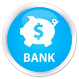 开户(贪心箱子美元的符号)优质深蓝蓝色圆的按钮 向量例证