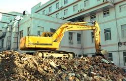 开掘机器 库存照片