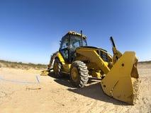 开掘的地面水平的铁锹蒸汽 免版税库存图片