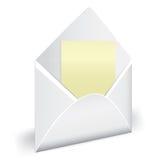 开放信包的信函 免版税库存图片