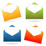 开放信封和白皮书的汇集 库存例证