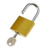 开放关键的锁定 库存照片