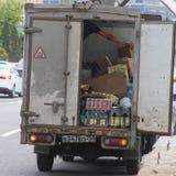 开放卡车的图象有货物的 库存图片