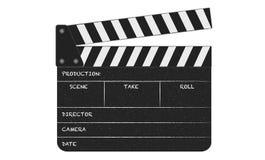 开放和空的claqueta 拍摄在戏院的电影的Claqueta 皇族释放例证