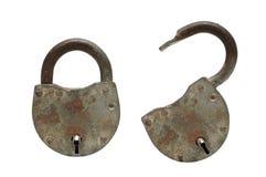 开放和闭合的挂锁 免版税库存图片