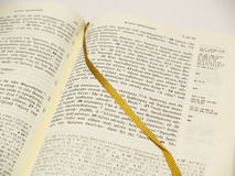 开放圣经的希腊 免版税库存照片