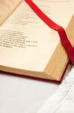 开放圣经的详细资料 免版税库存照片
