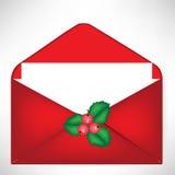开放圣诞节的信包 向量例证