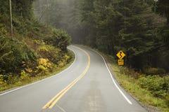开放在西海岸的路 免版税库存照片