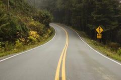开放在西海岸的路 免版税库存图片