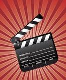 开放墙板的电影 免版税库存图片