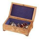 开放小箱的珠宝 免版税库存照片